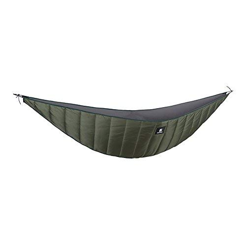 OneTigris Hammock Underquilt, Lightweight Camping Quilt, Packable Full Length Under Blanket (OD Green - 3 Seasons Underquilt)