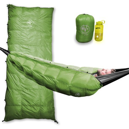 Outdoor Vitals Aerie 20°F Down Underquilt/Sleeping Bag, Use As Ultralight Underquilt, Sleeping Bag, Or Double Bag