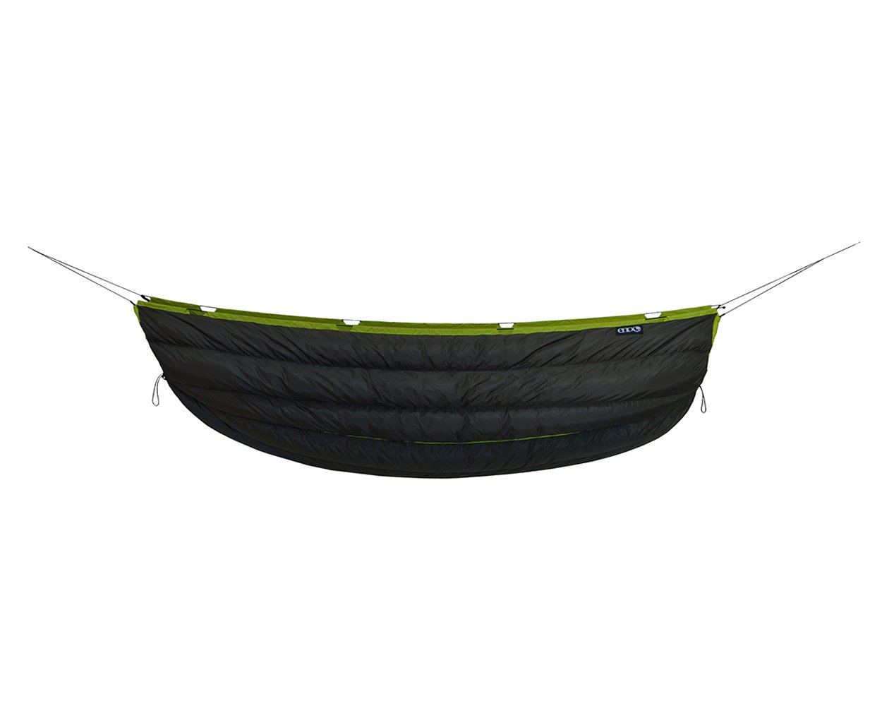 ENO Eagles Nest Outfitters - Blaze UnderQuilt, Ultralight Camping Quilt, Charcoal/Lime