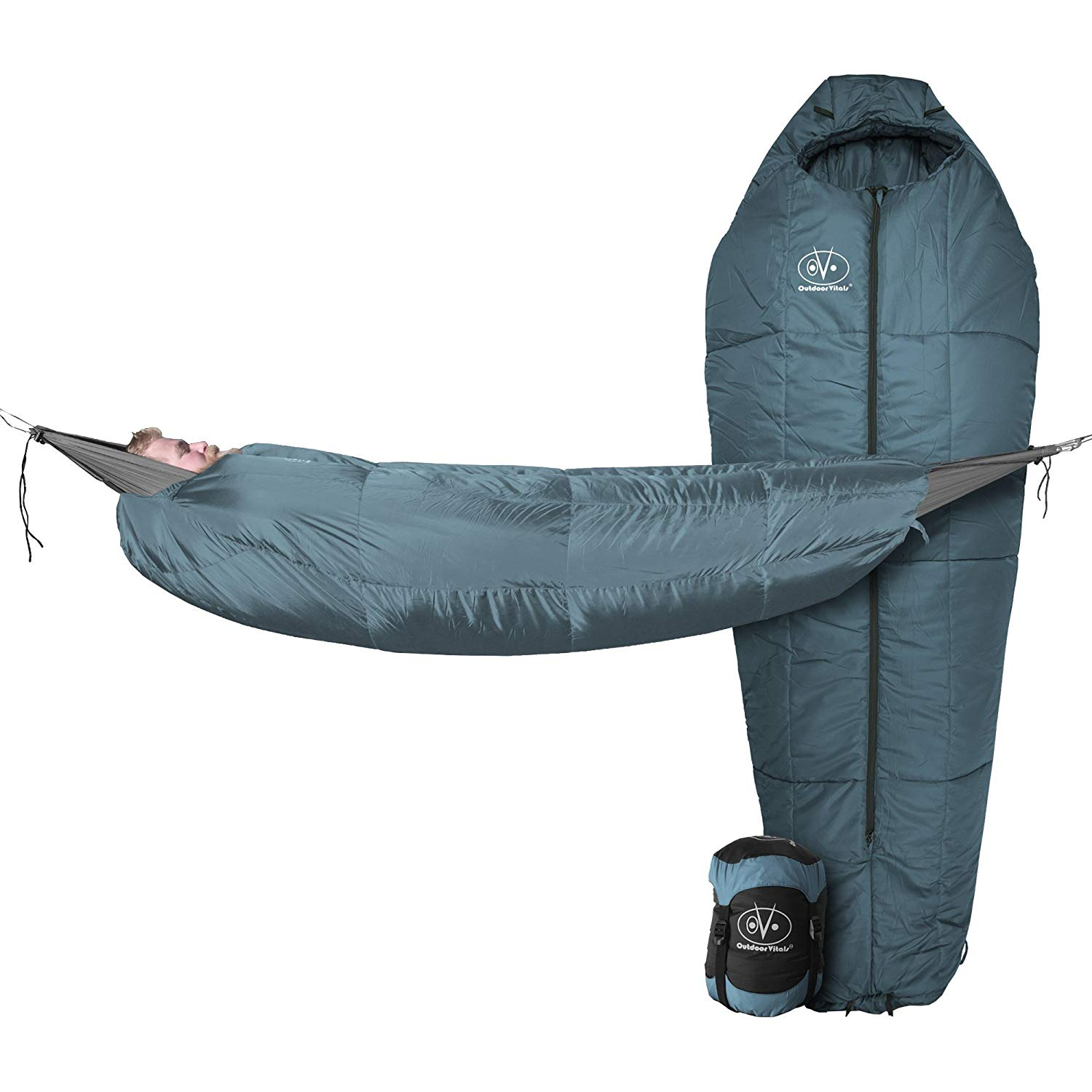 Outdoor Vitals Storm Light 30 Degree Mummy Pod Sleeping Bag | Eno underquilt