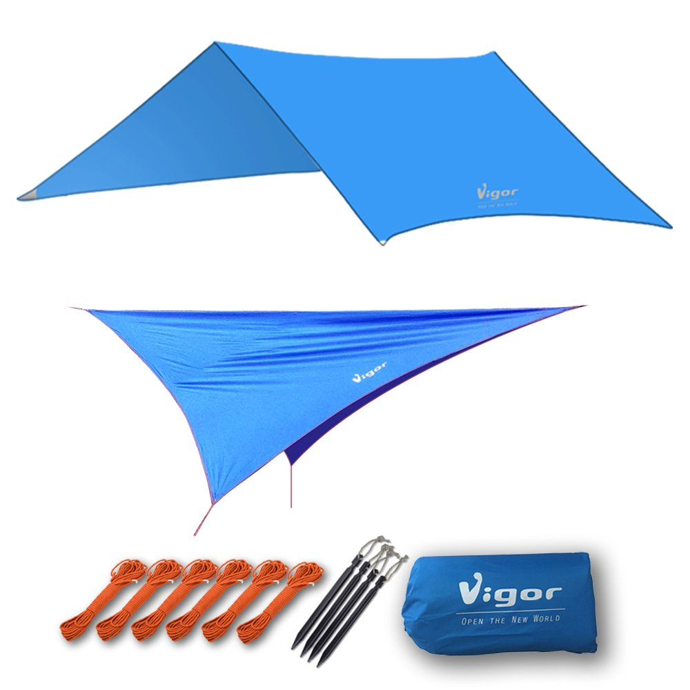 Vigor Hammock Rain Fly, Waterproof Tent Tarp