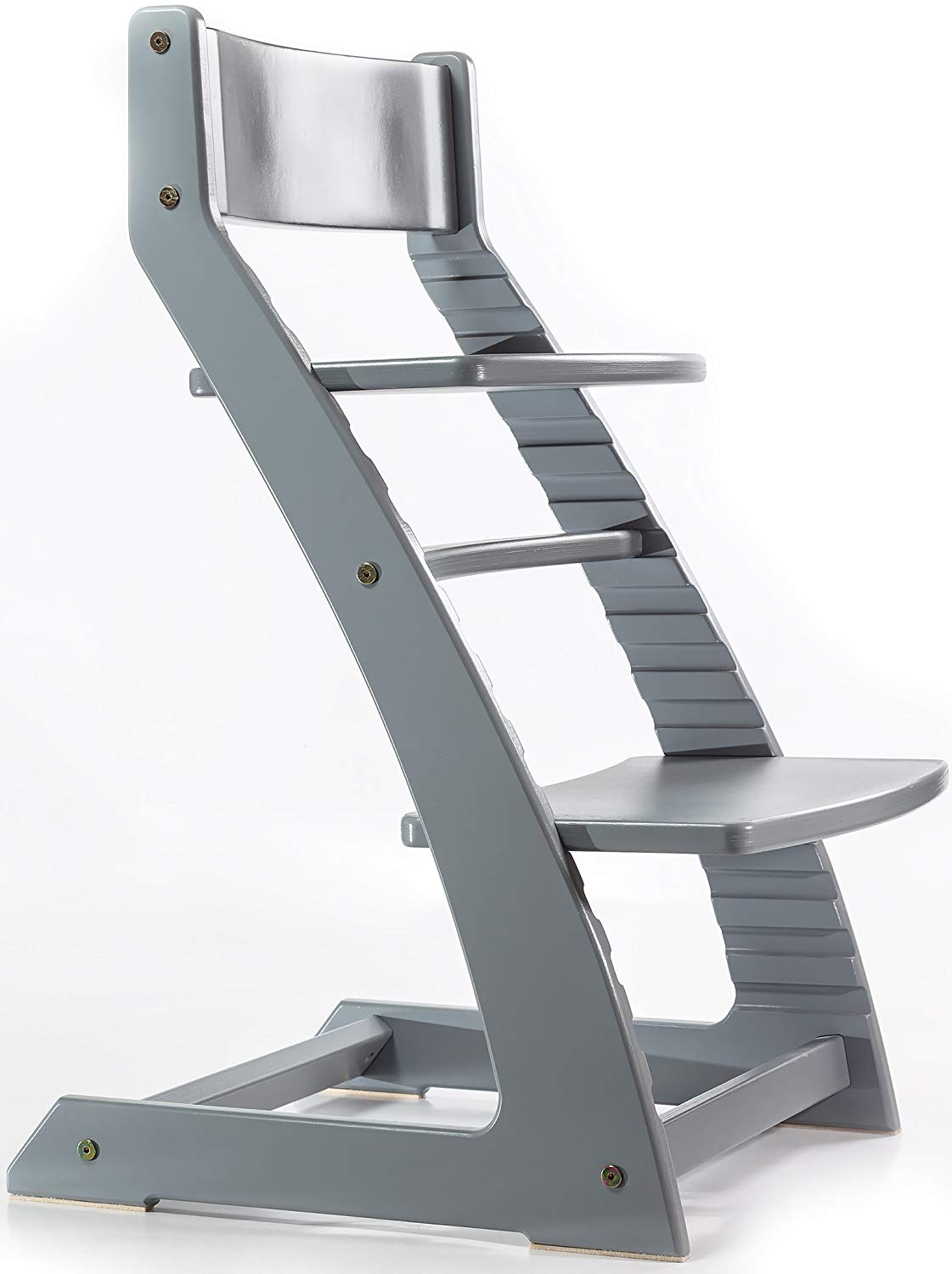 Grey Heartwood Adjustable Wooden High Chair