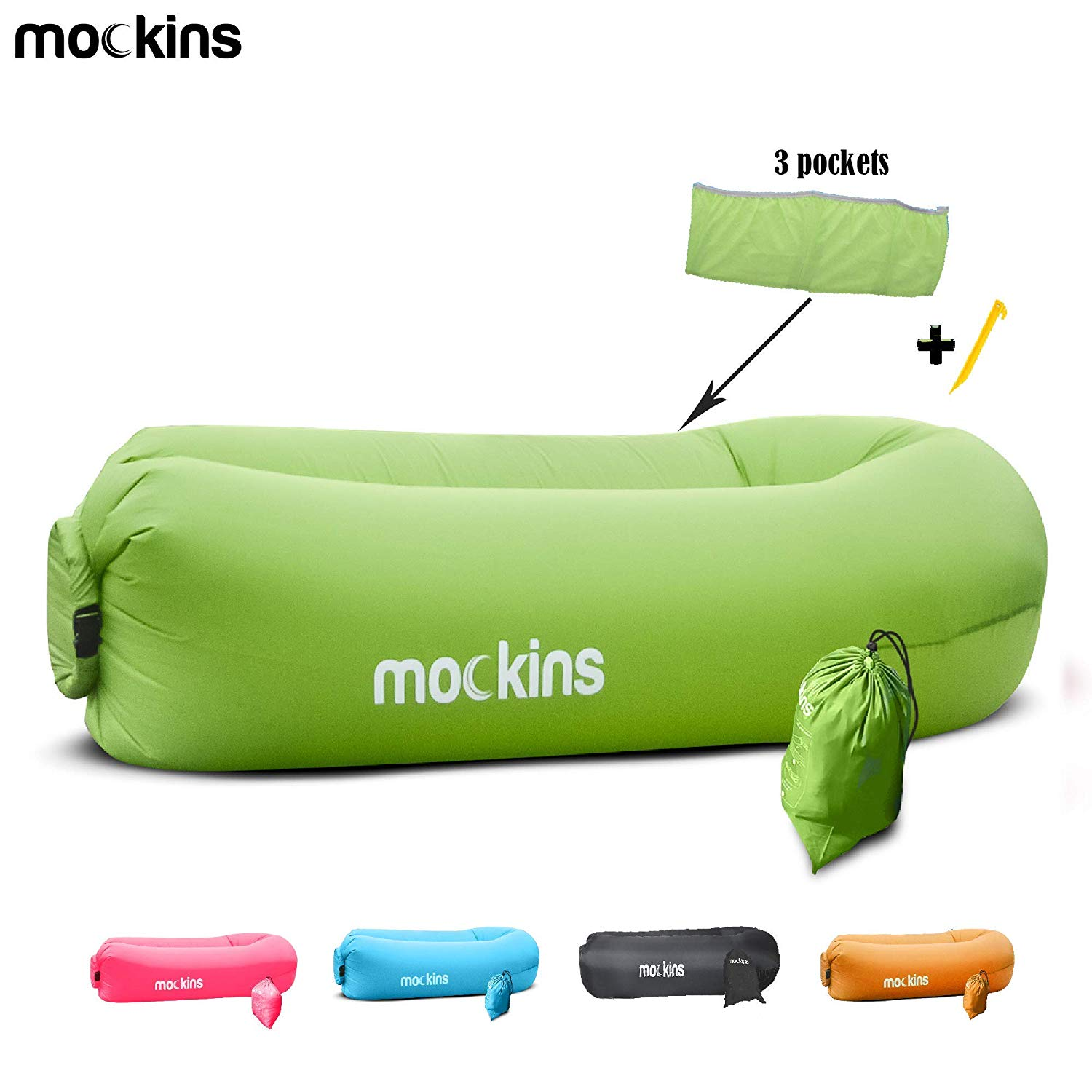 Mockins Green Inflatable Lounger