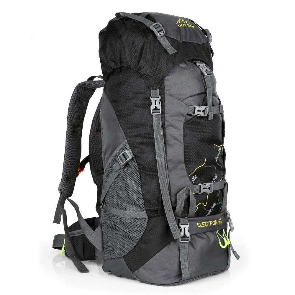 OUTLIFE Hiking Backpack 60L Lightweight Water Reasistant Trekking Bag