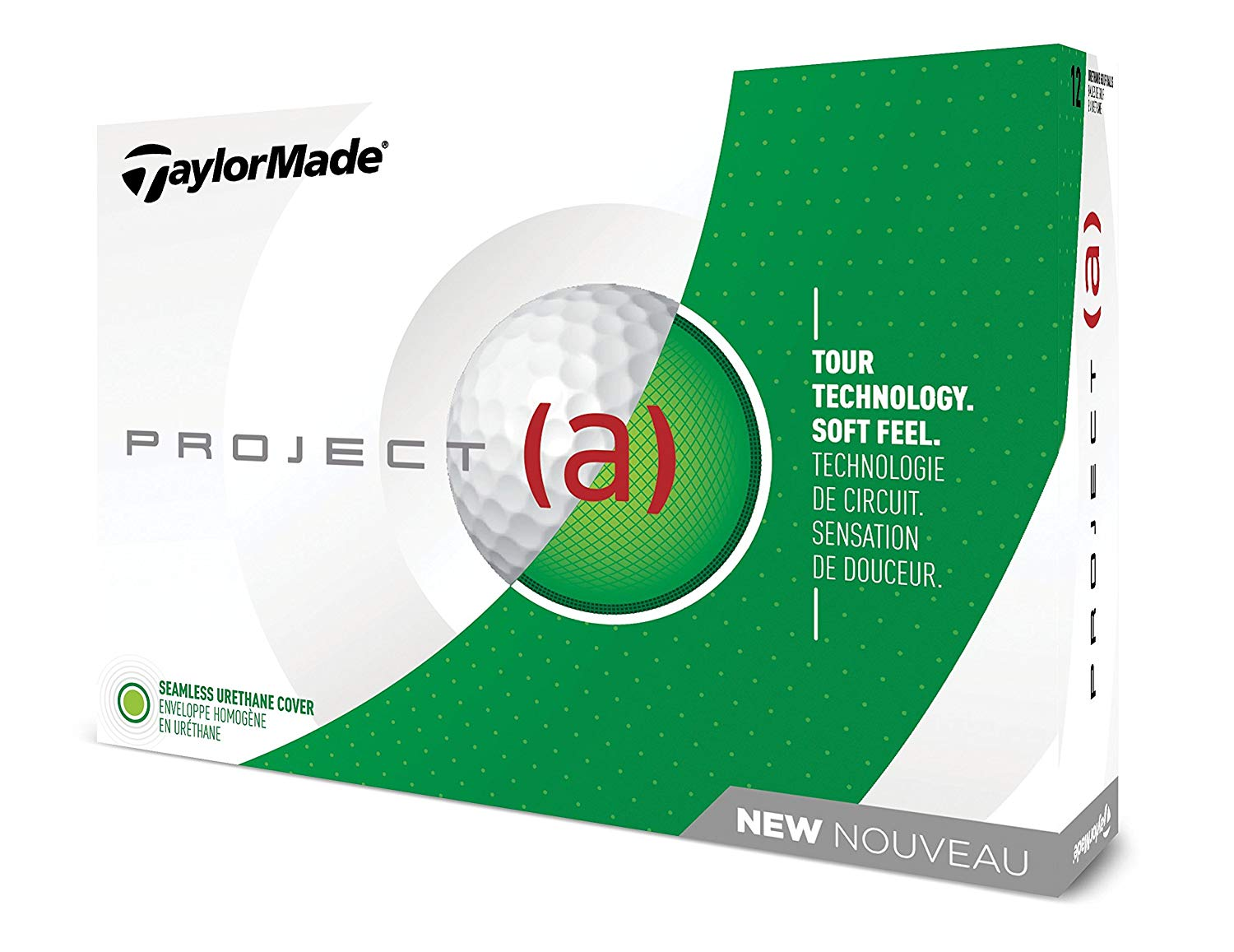 TaylorMade 2018 Project (a) Golf Ball, White (One Dozen)