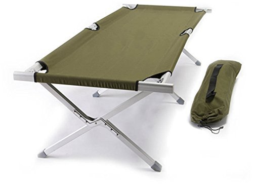 World Outdoor Products Military Style Aircraft Grade Anodized Aluminum Frame Camping Cot