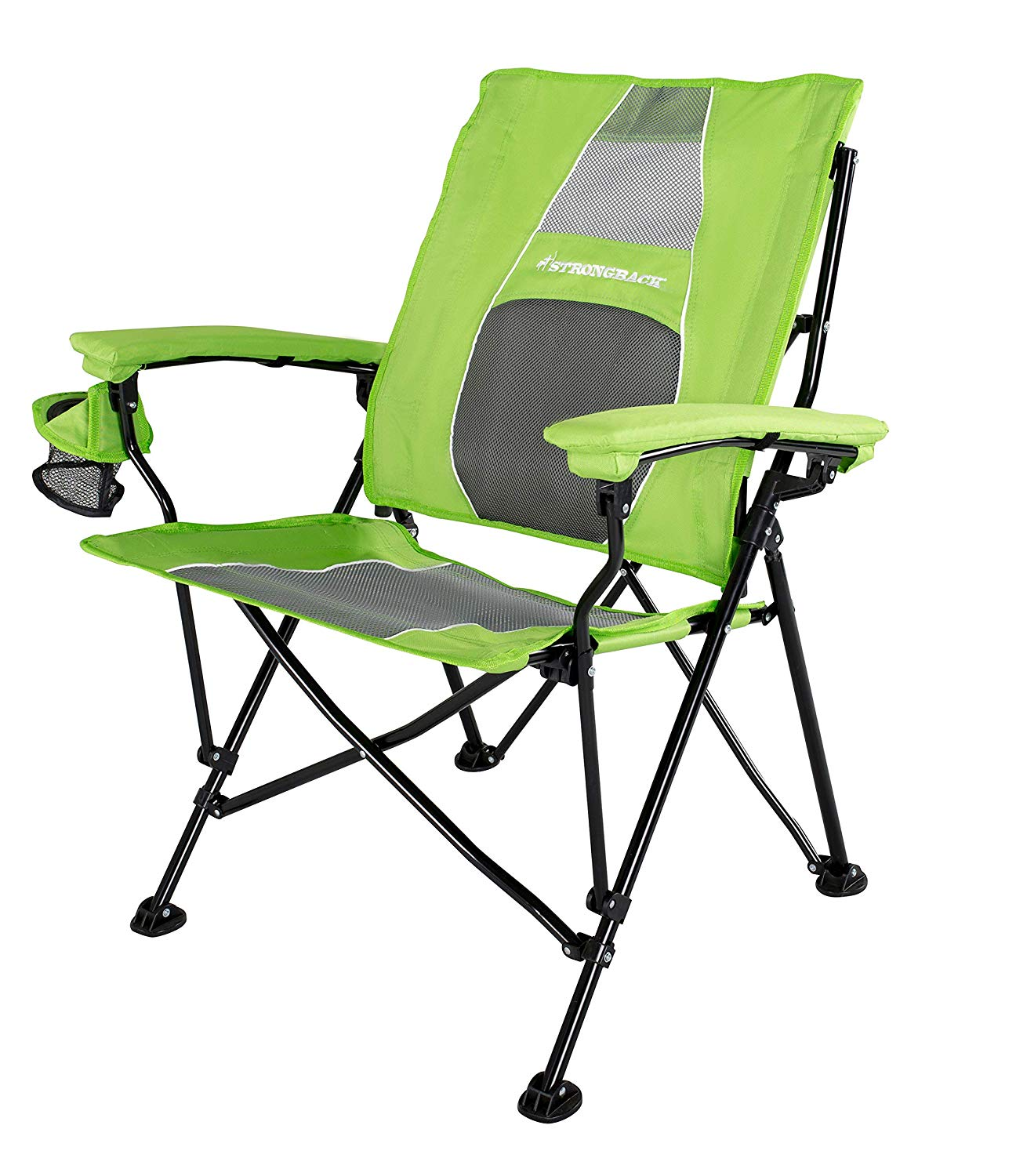 STRONGBACK Elite Folding Camping Lawn Lounge Chair Heavy Duty Camp Outdoor Seat