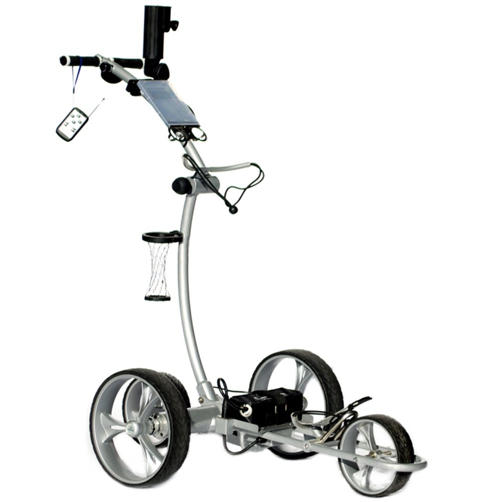 Cart Tek Gri-1500Li (Silver) Remote Power Electric Golf Caddy