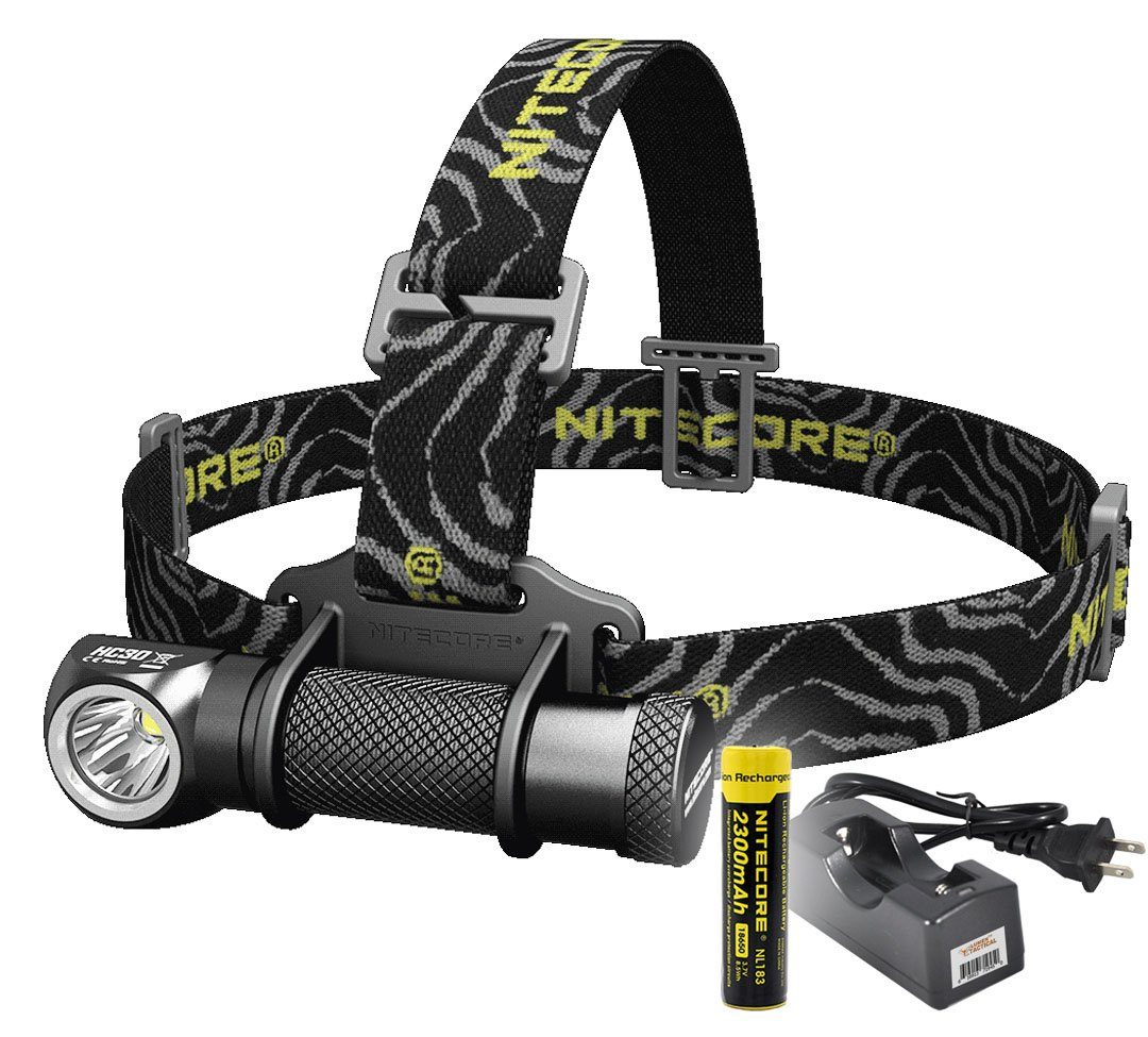 Nitecore HC30 1000 Lumens Rechargeable LED Headlamp with Battery and Charger