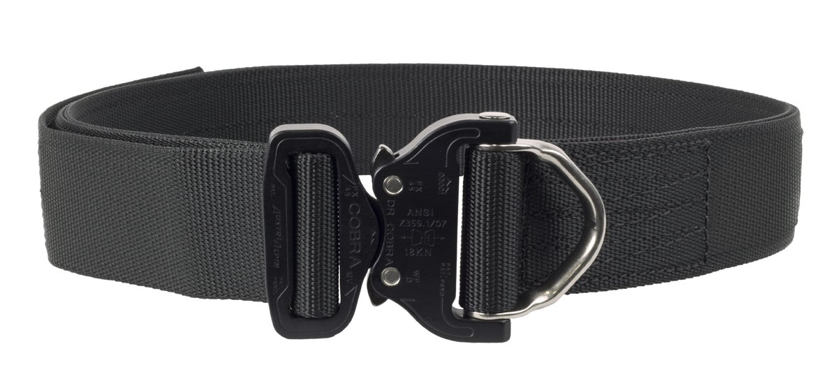 Elite Survival Systems Cobra Rigger's Belt with D Ring Buckle (Black, Large)