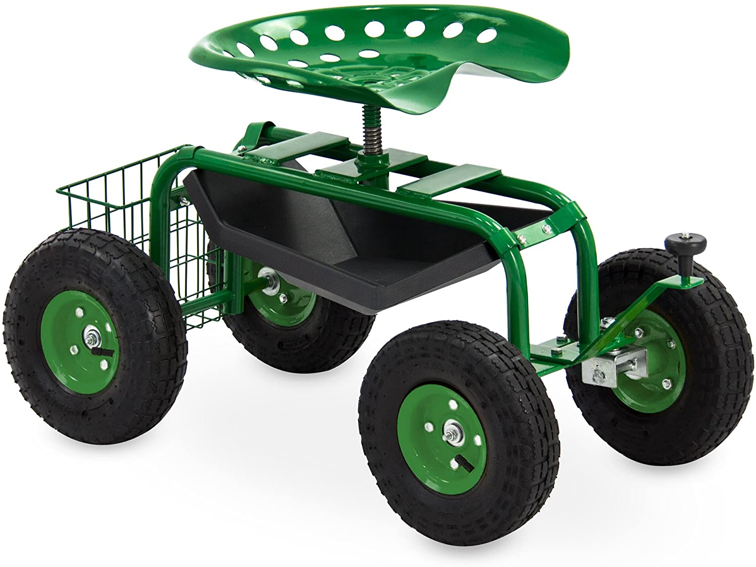 Best Choice Products 4-Wheel Mobile Steel Rolling Garden Cart