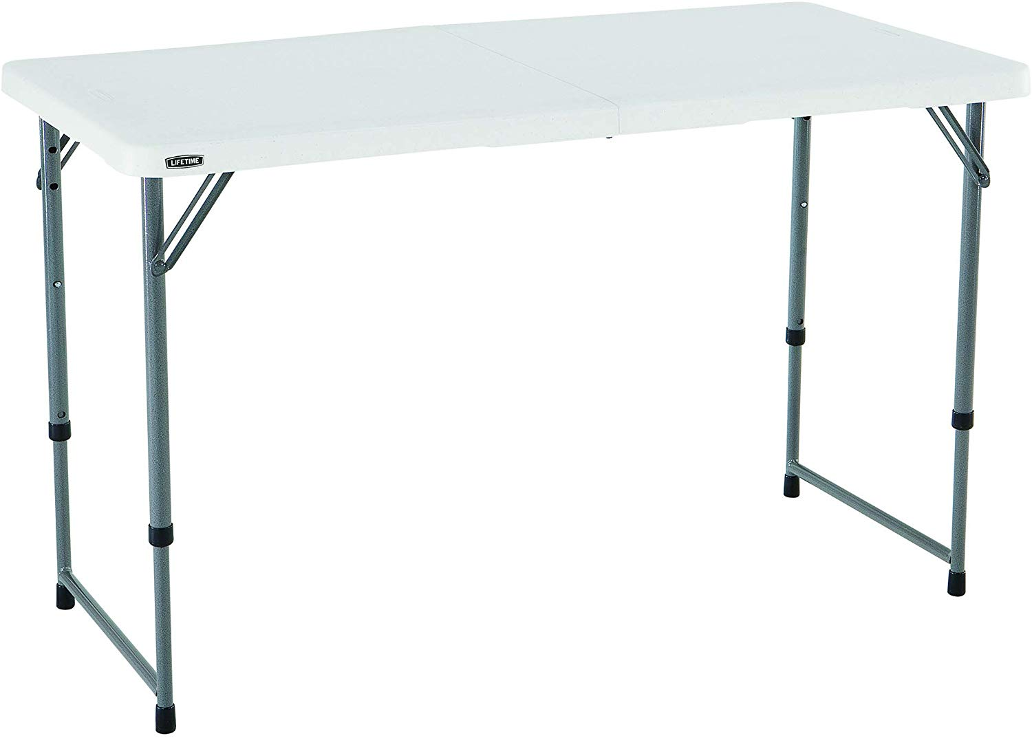 Lifetime 4428 Height Adjustable Craft Camping and Utility Folding Table