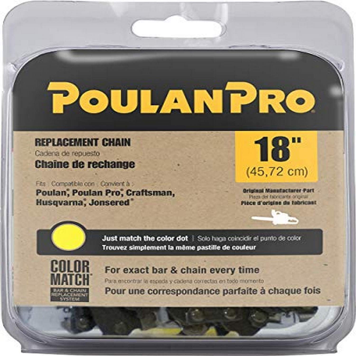 "poulan/weed eater 051338 Poulan Pro, 18"" Replacement Chain Saw Cutting Chain"