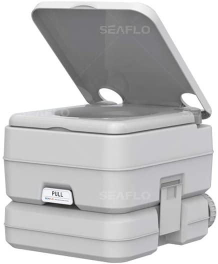 SEAFLO Portable Toilet for RV, Boat, and Camping (2.6 Gallon)