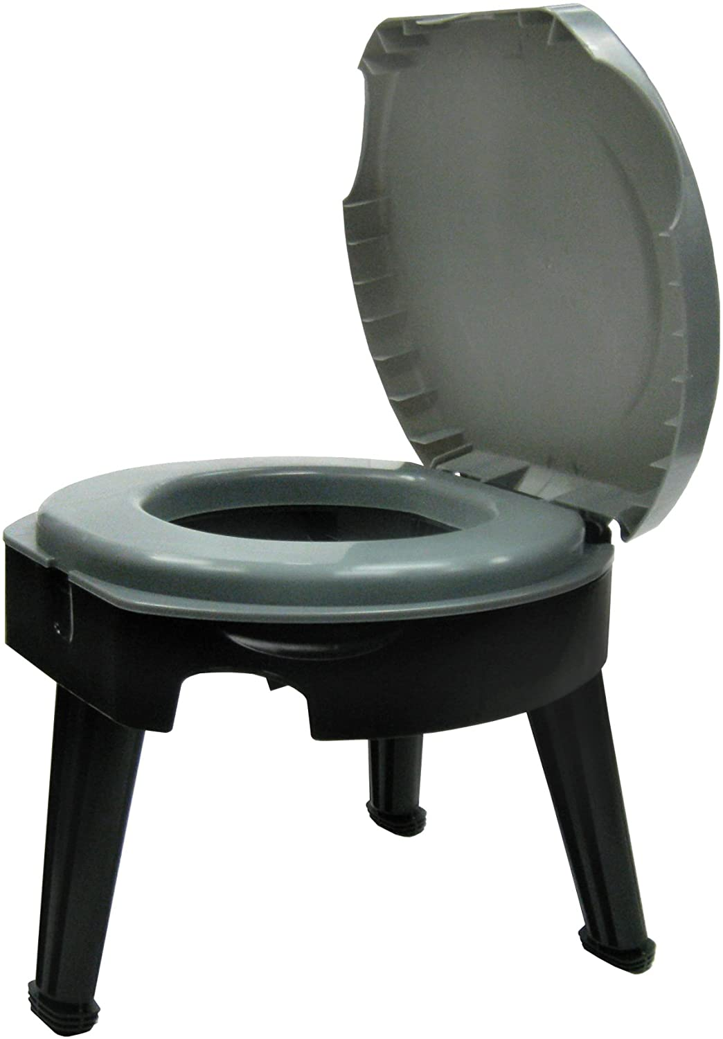 """Reliance Products Fold-to-Go Collapsible Portable Toilet, 9824-21W, Gray/Black, 14.5""""x14.5""""x14.5"""""""