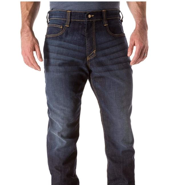 Tactical Men's Defender- Flex Straight Jeans Mechanical Stretch Fabric, Classic Pockets, Style 74477