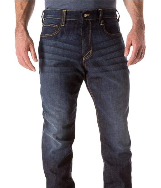 Tactical Men's Defender- Flex Straight Jeans, Mechanical Stretch Fabric, Classic Pockets, Style 74477